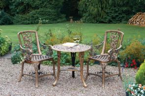 Patio Set - 3 Piece with Arm Chairs - Bronze - 4176